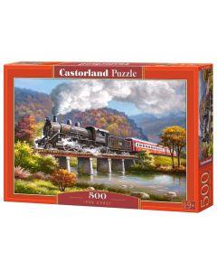 Puzzle pociąg lokomotywa Castorland 500 el. - zdjęcie 1
