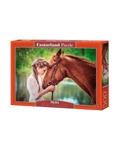 Puzzle z koniem - koń i dziewczyna Castorland 500 el. - zdjecie 1