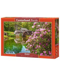 Puzzle Młyn nad stawem krajobraz Castorland - zdjęcie 1