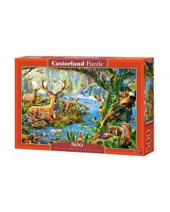 Puzzle las i leśne zwierzęta Castorland 500 el. - zdjęcie 1