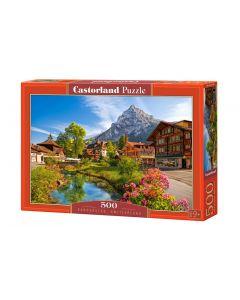Puzzle panorama Szwajcaria góry Castorland 500 el. - zdjęcie 1
