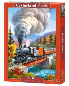 Puzzle pociąg kolejka Castorland 500 el. - zdjęcie 1
