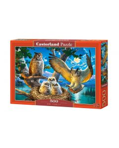 Puzzle gniazdo sowy Castorland 500 el. - zdjęcie 1