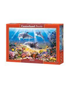 Puzzle rafa koralowa delfiny Castorland 500 el. - zdjęcie 1
