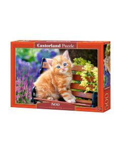 Puzzle z kotkiem - kotki koty rudy kotek  Castorland 500 el. - zdjecie 1