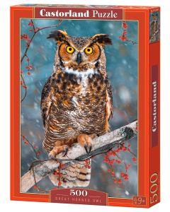 Puzzle Sowa wielka ptak zwierzęta Castorland 500 el. - zdjęcie 1