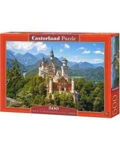 Puzzle widok na zamek w Niemczech Neuschwanstein Castorland 500 el. - zdjęcie 1