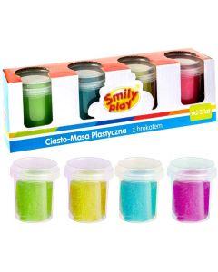 Ciasto-Masa plastyczna z brokatem Smily Play 4 kolory - zdjęcie 1