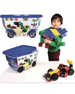 Klocki konstrukcyjne w wózku 15w1 Clics Rollerbox  - zdjęcie 1