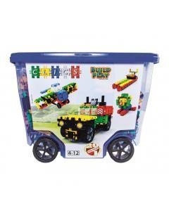 Wózek z klockami 20w1 Clics Rollerbox 600 el. - zdjęcie 1