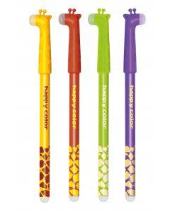 Długopis wymazywalny Happy Color Żyrafy 0.5mm