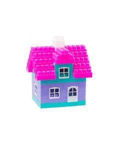 Klocki konstrukcyjne Maxi tęczowy domek Diplo dla dziewczynek - zdjecie 1