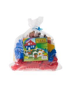 Klocki dla dzieci Diplo mała farma 136 elementów  - zdjęcie 1