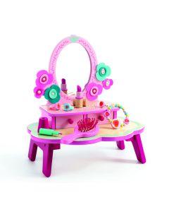 Drewniana toaletka dla dziewczynki Djeco różowa - zdjęcie nr 1