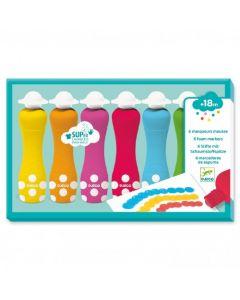 Markery piankowe stempelkowe dla maluchów Djeco - zdjęcie 1