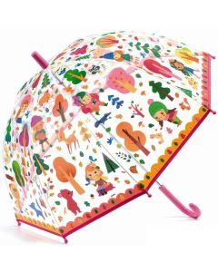 Djeco: przeźroczysta parasolka - parasol dla dzieci Las - zdjęcie 1