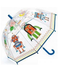Djeco: przeźroczysta parasolka - parasol dla dzieci Roboty - zdjecie 1