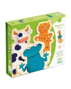 Puzzle drewniane magnetyczne zwierzątka dla dzieci od 2 lat - zdjęcie 1