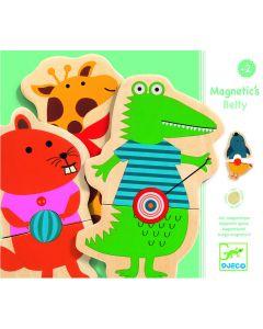 Puzzle drewniane magnetyczne Djeco zwierzątka zoo 24 el. - zdjęcie 1
