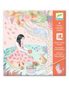 Djeco wydrapywanka Piknik pastelowa dla dzieci - zdjęcie -1