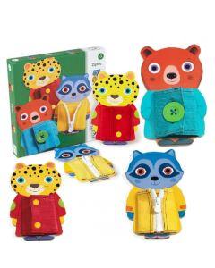 Drewniane zwierzaki - zabawki manualne Djeco z zamkiem - zdjęcie 1
