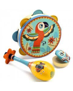Zestaw instrumentów muzycznych dla dzieci 3 sztuki - zdjęcie 1