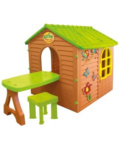Domek ogrodowy MochToys ze stolikiem i krzesełkiem zdjęcie-1