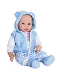 Lalka realistyczny niemowlak Doris mówi i śpiewa niebieski - zdjęcie 1