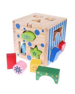 Drewniany sorter kostka edukacyjna dla dzieci - zdjęcie 1