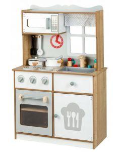 Kuchnia dla dzieci drewniana z akcesoriami - zdjęcie 1