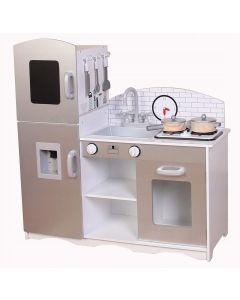 Kuchnia dla dzieci drewniana XXL z akcesoriami - zdjęcie 1