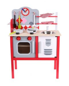 Kuchnia drewniana z wyposażeniem dla dzieci - zdjęcie 1