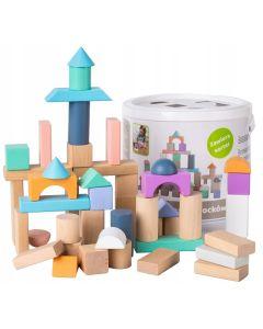 Drewniane klocki dla dzieci 50 sztuk sorter - zdjęcie 1
