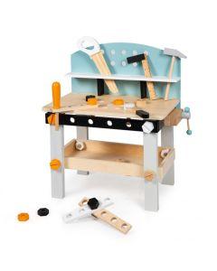 Drewniany warsztat z narzędziami Ecotoys 32 elementy  - zdjęcie nr 1