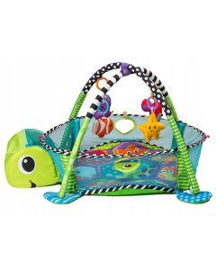 Mata edukacyjna 3w1 basen z piłeczkami żółwik - zdjęcie 1