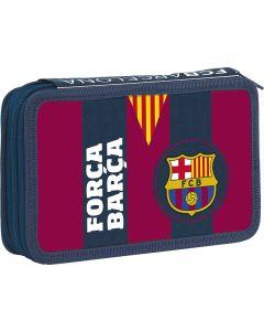 Piórnik dwukomorowy z wyposażeniem FC Barcelona - zdjęcie 1