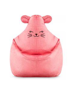 Puf dziecięcy fotel dla dziewczynki różowy Kotek - zdjęcie 1