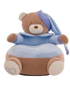 Pluszowy fotelik dla dziecka niebieski miś zdjęcie 1