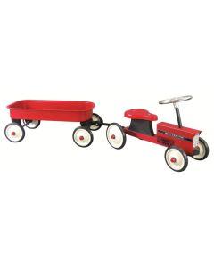 Pojazd dla dzieci traktor metalowy z przyczepą GOKI - zdjęcie 1