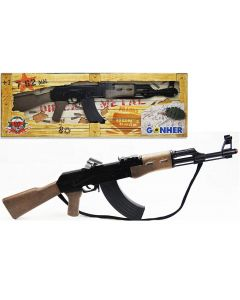 Karabin AK-47 na kulki zabawkowy - broń na kapiszony - zdjęcie 1