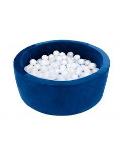 Misioo Velvet Soft suchy basen z piłeczkami okrągły Granatowy -zdjęcie 1