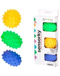 Piłki Sensoryczne Hencz Toys Sensorky 3 sztuki - zdjecie 1