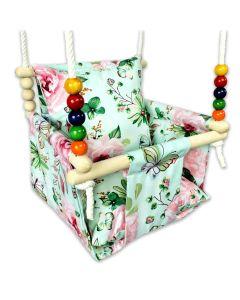 Huśtawka dla dziecka Kizia Mizia Kwiaty i Motylki - zdjęcie nr 1