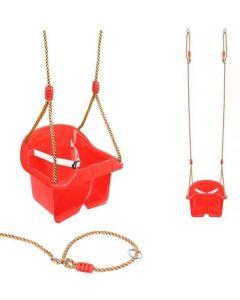 Huśtawka kubełkowa z oparciem dla dzieci - zdjęcie 1