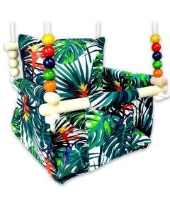 Huśtawka dla dziecka Kizia Mizia Zielone Palmy - zdjęcie nr 1