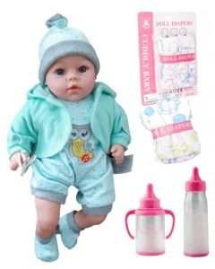 Lalka Bobas mówi śpiewa + butelki smoczek pampers - zdjęcie 1