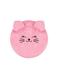 Pufa dla dziewczynki Kidspace różowy kotek - zdjęcie 1