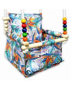 Kizia Mizia huśtawka dla dziecka z poduszkami Egzotyczne Liście - zdjęcie nr 1