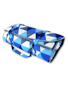 Kizia Mizia koc piknikowy duży Niebieskie Trójkąty 180x200 - zdjęcie nr 1