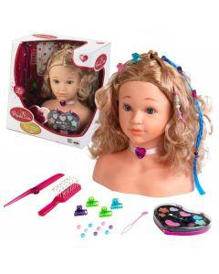 Głowa lalki do czesania, stylizacji i makijażu Klein duża - zdjęcie 1